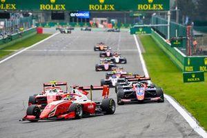 Logan Sargeant, Prema Racing and Frederik Vesti, Prema Racing and Oliver Caldwell, Trident