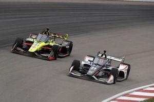 Rinus VeeKay, Ed Carpenter Racing Chevrolet, Santino Ferrucci, Dale Coyne Racing with Vasser Sullivan Honda