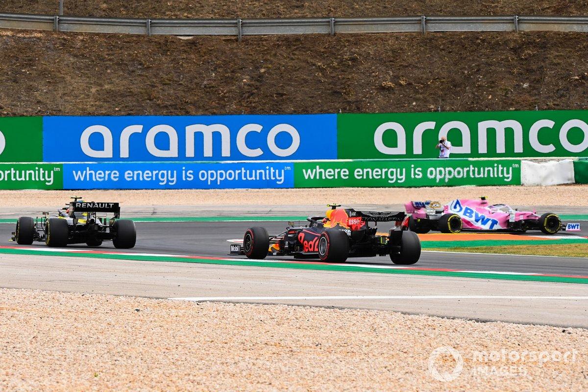 Lance Stroll, Racing Point RP20, Esteban Ocon, Renault F1 Team R.S.20, Alex Albon, Red Bull Racing RB16