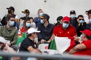 Fans in grandstand