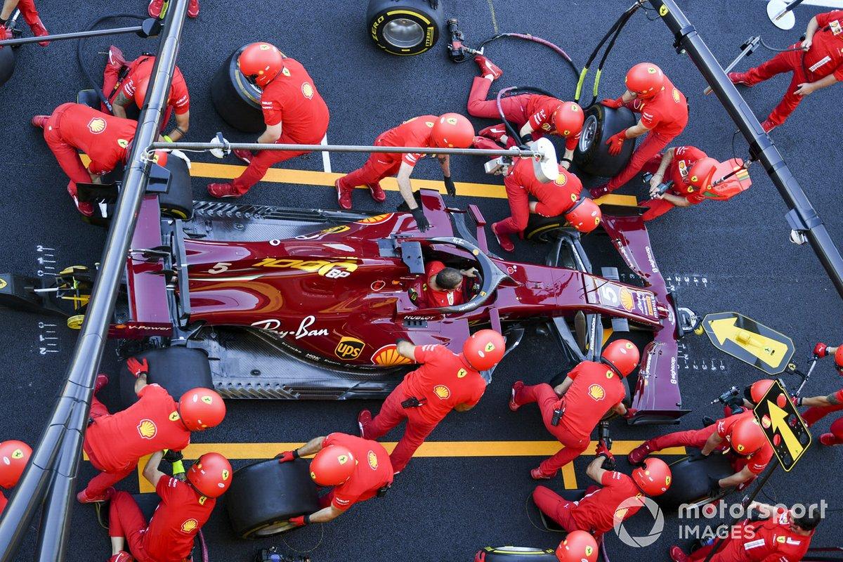 Prove Pit stop della Ferrari