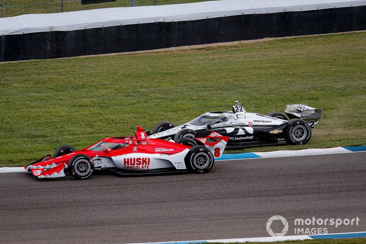 Marcus Ericsson, Chip Ganassi Racing Honda, Simon Pagenaud, Team Penske Chevrolet