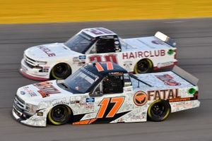 Dylan Lupton, DGR-Crosley, Ford F-150 Fatal Motorsports Spencer Boyd, Young's Motorsports, Chevrolet Silverado Hairclub