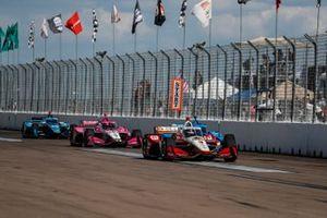 Scott McLaughlin, Team Penske Chevrolet, Felix Rosenqvist, Chip Ganassi Racing Honda, Marco Andretti, Andretti Herta with Marco & Curb-Agajanian Honda