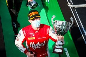 Frederik Vesti, Prema Racing celebrates on the podium with the champagne and the trophy