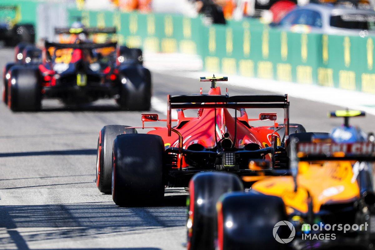 Charles Leclerc, Ferrari SF1000, Lando Norris, McLaren MCL35