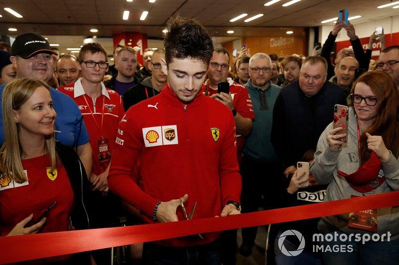 Charles Leclerc, Ferrari cuts the ribbon to open Autosport International 2020