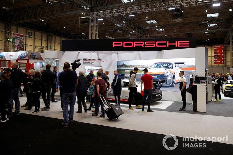The Porsche stand