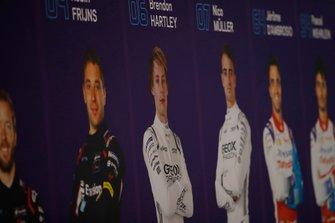 Ritratti dei piloti di Formula E tra cui Brendon Hartley, GEOX Dragon