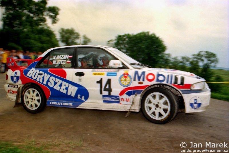 Wiesław Stec, Stanisław Bazan, Mitsubishi Lancer Evo III, Rajd Polski 1998