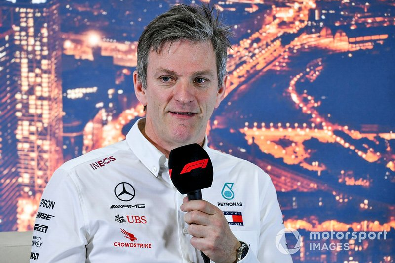 James Allison, Director Técnico de Mercedes AMG en la conferencia de prensa