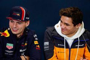 Press conference, Max Verstappen, Red Bull Racing, and Lando Norris, McLaren