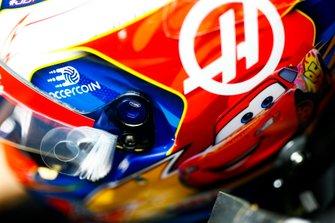 The helmet design of Romain Grosjean, Haas F1 Team