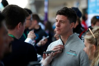 James Calado, Jaguar Racing talks to the press