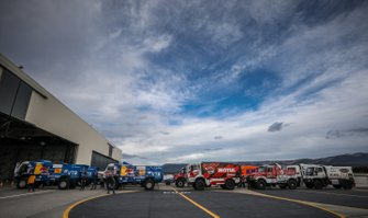 Competitor Trucks during 2020 Dakar Scrutineering at Le Castellet, France
