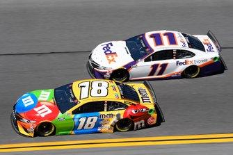 Kyle Busch, Joe Gibbs Racing, Toyota Camry M&M's, Denny Hamlin, Joe Gibbs Racing, Toyota Camry FedEx Express