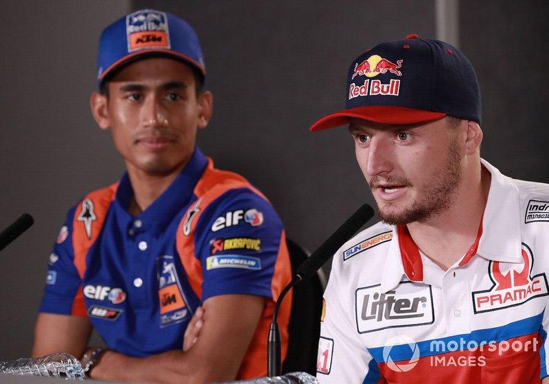 Хафиз Сьяхрин, Red Bull KTM Tech 3, и Джек Миллер, Alma Pramac Racing