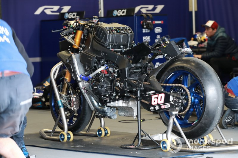 La moto de Michael Van Der Mark, Pata Yamaha WorldSBK Official Team