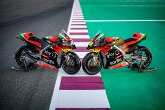 Le moto della Aprilia Racing Team Gresini
