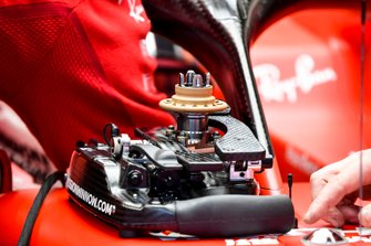 Steering wheel of the Ferrari SF1000