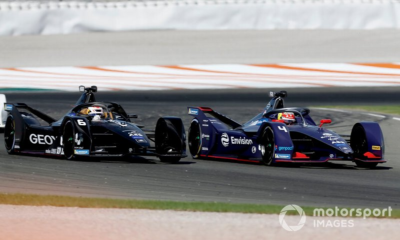 Robin Frijns, Envision Virgin Racing, Audi e-tron FE06 alongside Brendon Hartley, Dragon Racing, Penske EV-4