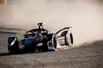 Nico Muller, Dragon Racing, Penske EV-4, in the gravel trap