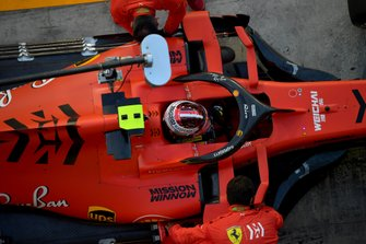 Charles Leclerc, Ferrari SF90, in the pits
