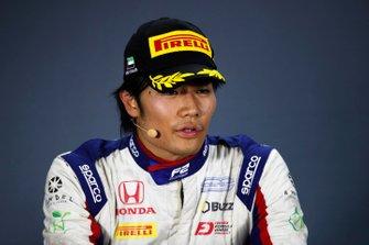 Guanyu Zhou, UNI Virtuosi Racing in the press conference