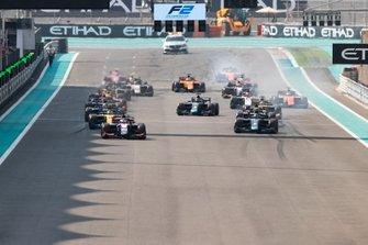 Partenza della gara di FIA Formula 2