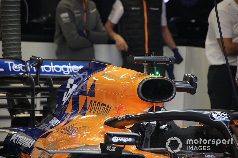 McLaren MCL34: Airbox