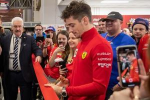 Charles Leclerc, Ferrari opens Day 4 of the Autosport International Show