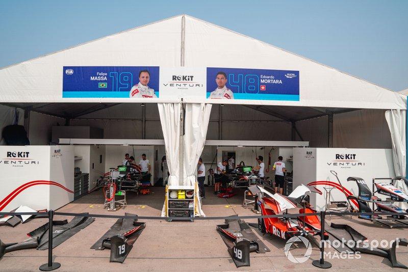 Garages of Felipe Massa, Venturi, EQ Silver Arrow 01, Edoardo Mortara, Venturi, EQ Silver Arrow 01
