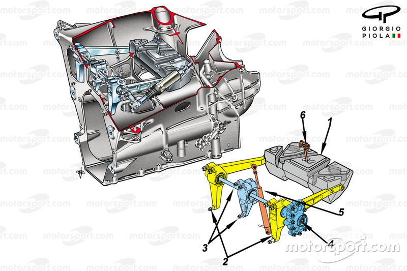 Ensamblaje del amortiguador del Renault R26
