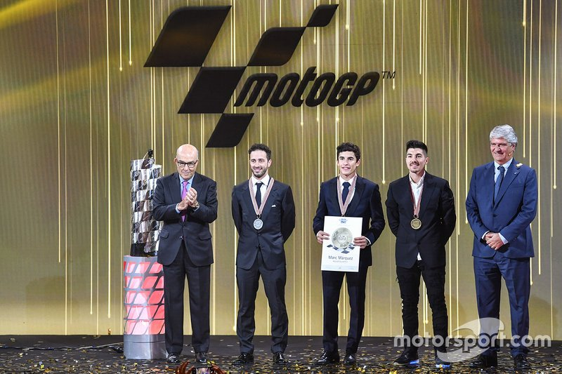 Les trois premiers pilotes en MotoGP
