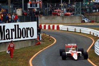 Alain Prost, McLaren, Ayrton Senna, McLaren MP4/5, al GP del Giappone del 1989