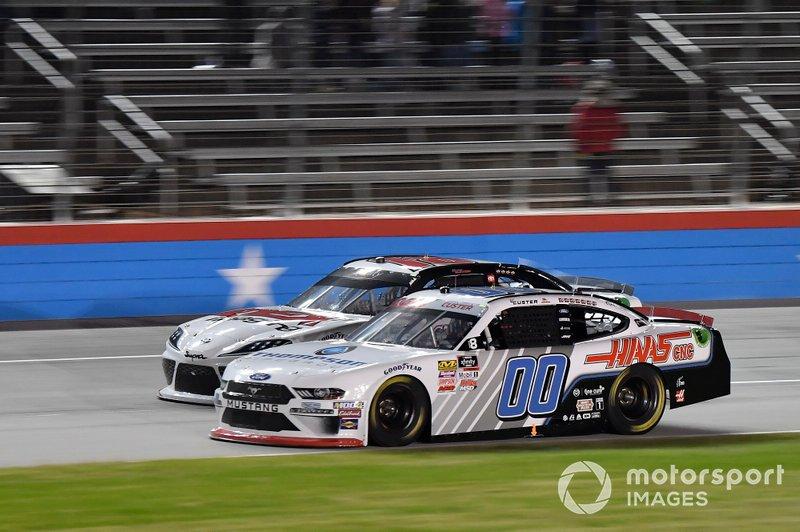 Cole Custer, Stewart-Haas Racing, Ford Mustang Thompson Pipe GroupHarrison Burton, Joe Gibbs Racing, Toyota Supra Dex Imaging