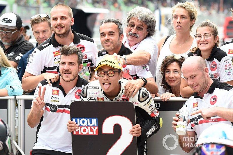 Secondo classificato Tatsuki Suzuki, SIC58 Squadra Corse, Q2 Moto3