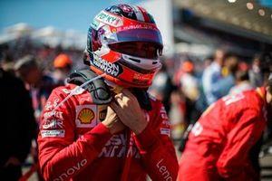 Charles Leclerc, Ferrari SF90, on the grid