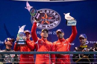 #90 TF Sport - Aston Martin Vantage Amr: Salih Yoluc, Charles Eastwood, Jonathan Adam Podium