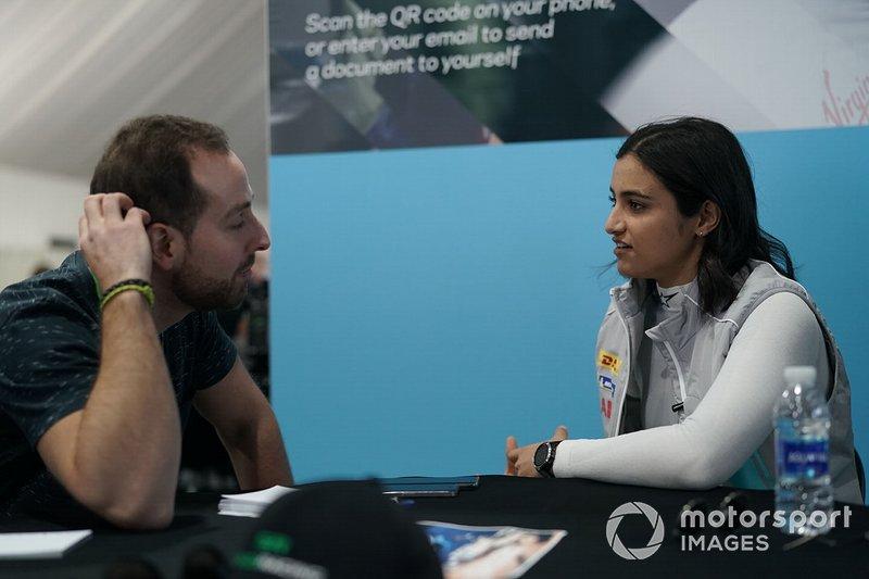 Reema Juffali, Jaguar VIP car being interviewed by the media