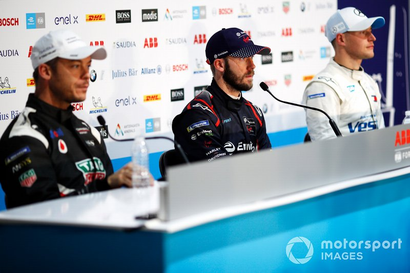 Sam Bird, Virgin Racing, in the press conference