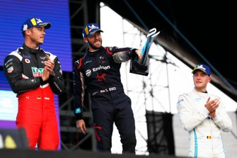 Andre Lotterer, Porsche, Porsche 99x Electric, Sam Bird, Virgin Racing, Audi e-tron FE06, Stoffel Vandoorne, Mercedes Benz EQ, EQ Silver Arrow 01, on the podium