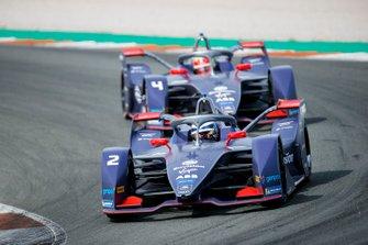 Сэм Бёрд, Envision Virgin Racing, Audi e-tron FE06 и Робин Фрейнс, Envision Virgin Racing, Audi e-tron FE06