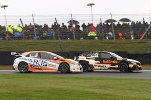 Dan Cammish, Halfords Yuasa Team Dynamics Honda Civic, Rory Butcher, AmD Tuning Honda Civic