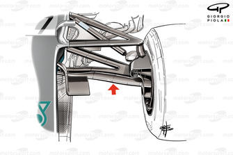 Mercedes AMG F1 W11 front suspension