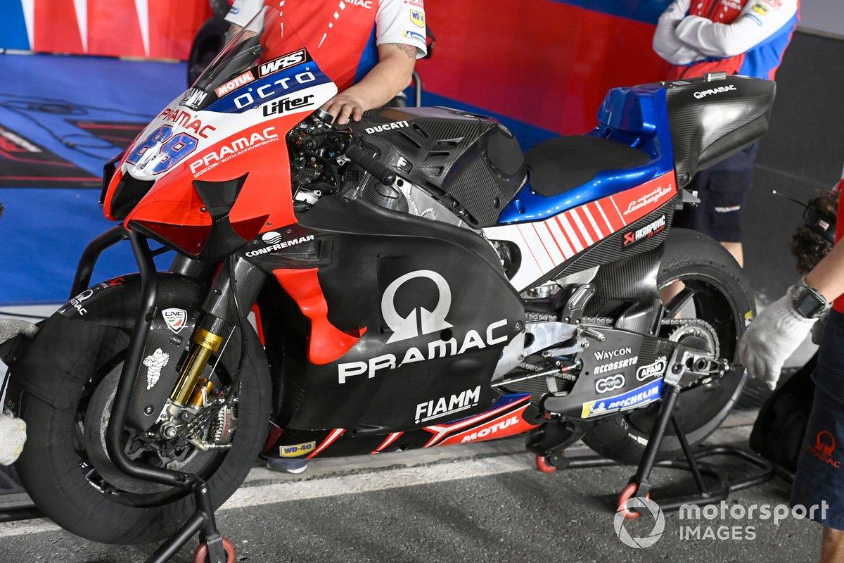 La moto de Pramac Ducati