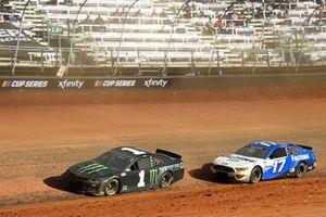 Kurt Busch, Chip Ganassi Racing, Chevrolet Camaro Monster Energy, Chris Buescher, Roush Fenway Racing, Ford Mustang Fastenal