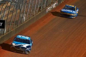 Martin Truex Jr., Joe Gibbs Racing, Toyota Camry Auto-Owners Insurance and Daniel Suarez, TrackHouse Racing, Chevrolet Camaro Camping World