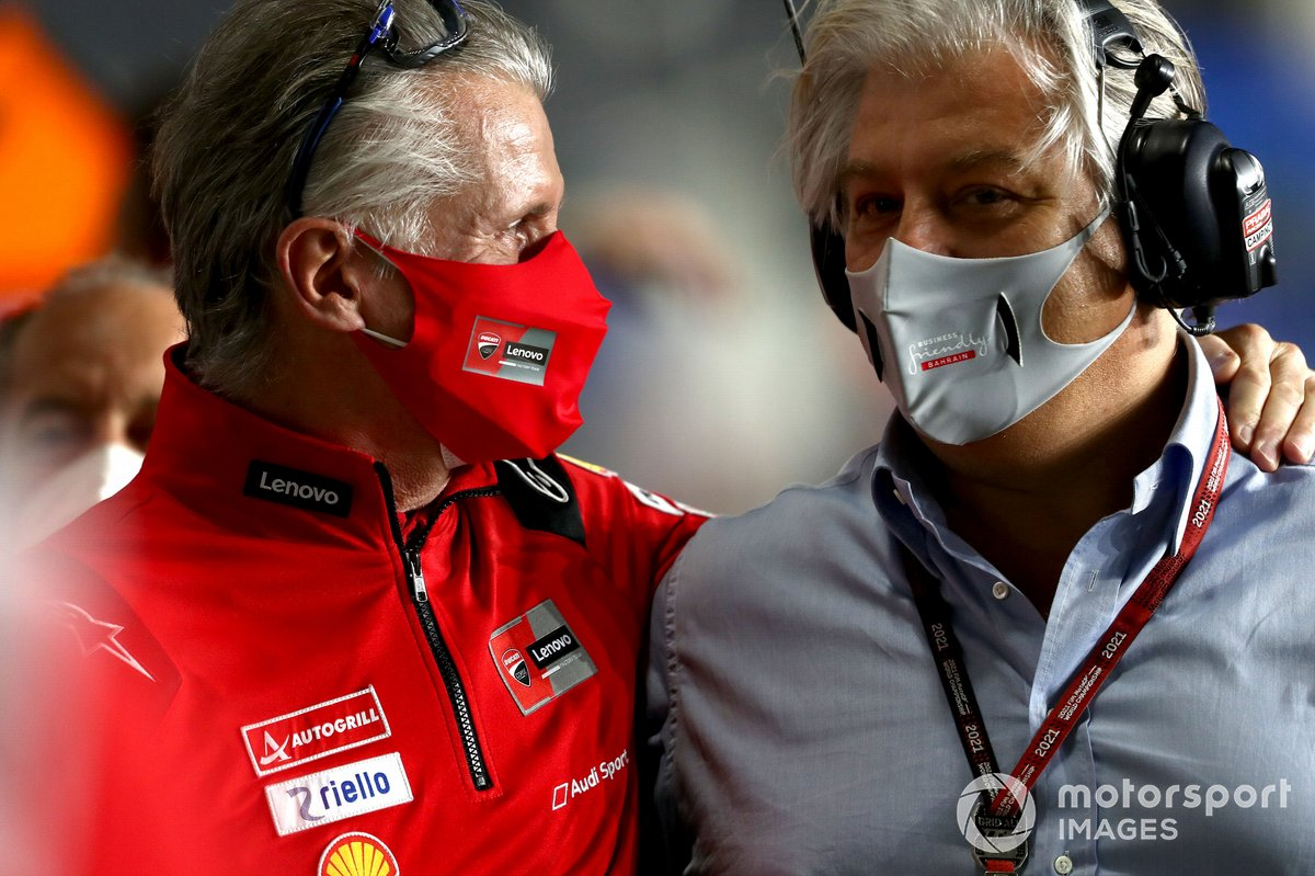 Paulo Paolo Ciabatti, Ducati Corse Sporting Director, Paulo Campinoti, Pramac Racing