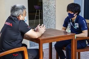 Masashi Yamamoto, General Manager, Honda Motorsport, Yuki Tsunoda, AlphaTauri